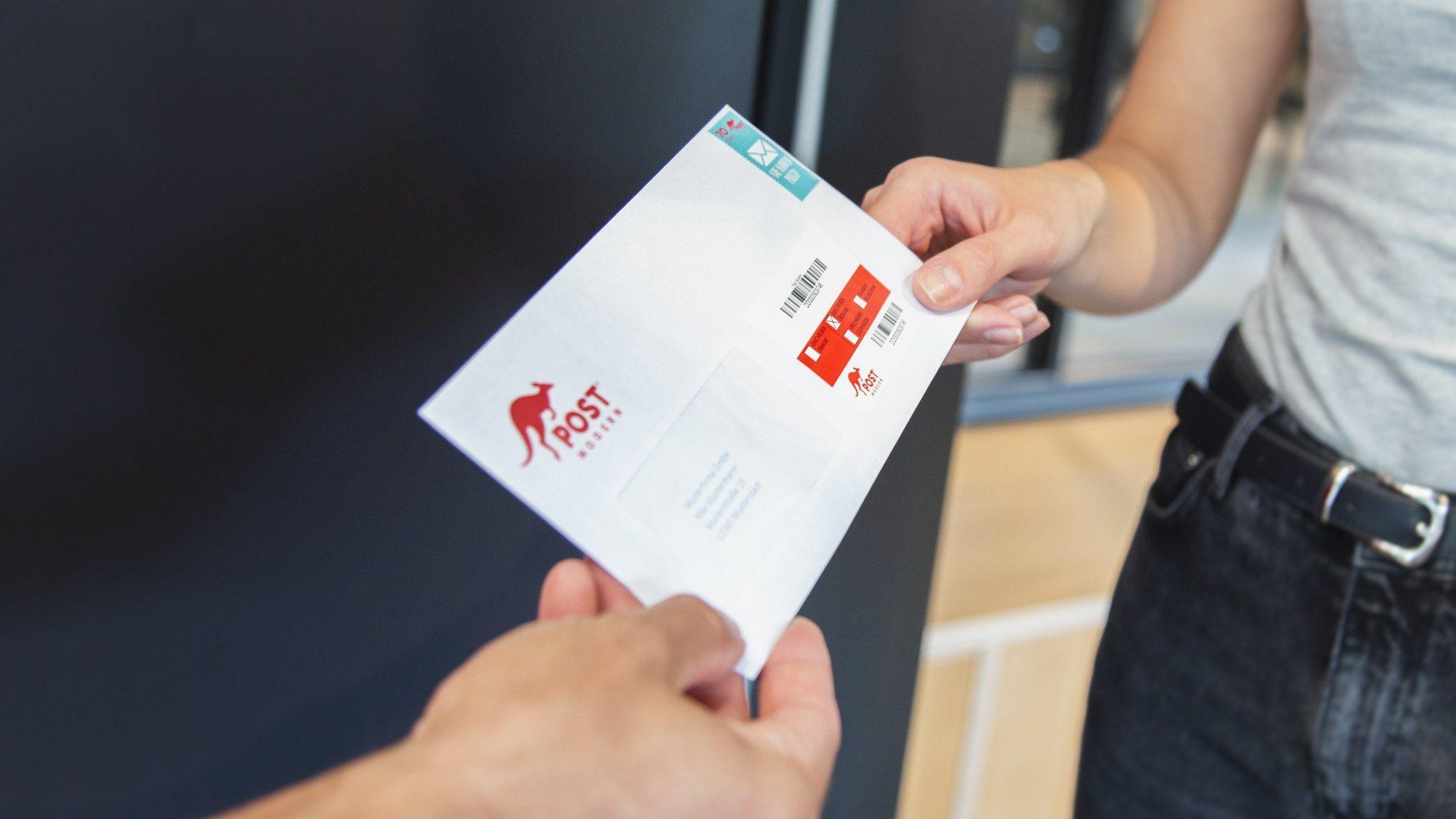 Einschreiben mit PostModern verschicken