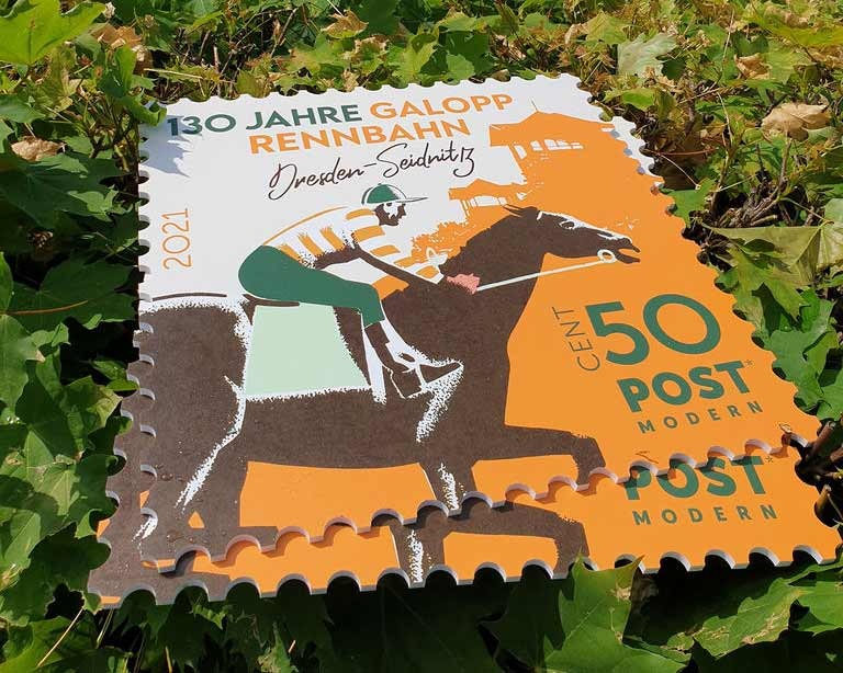 Sonderbriefmarke PostModern Dresden 50 Cent